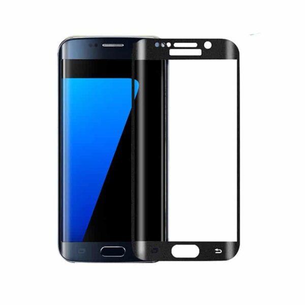 Samsung Galaxy S7 edge schwarz Panzerglas als Displayschutz Front