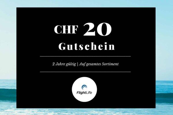 Gutschein CHF 20 flightlife Black Dots Gift Voucher
