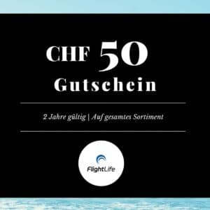 Gutschein CHF 50 flightlife Black Dots Gift Voucher