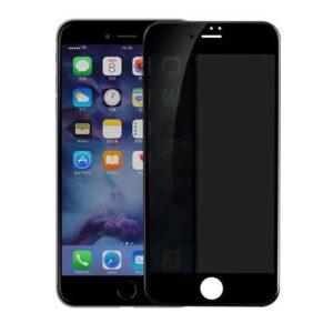 Privacy Screen mit Panzerglas für iPhone 7 Plus Blickschutzfilter weiss
