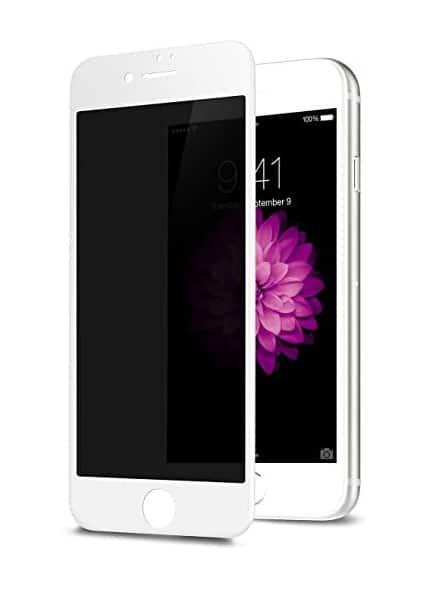 Privacy Screen mit Panzerglas für iPhone 8 Blickschutzfilter weiss