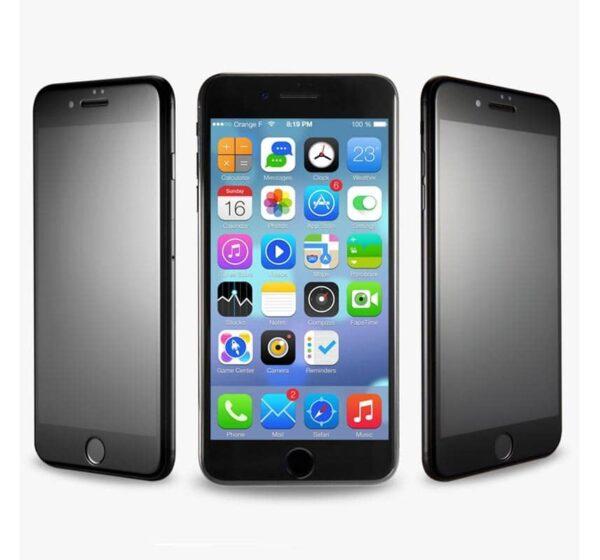Privacy Screen mit Panzerglas für iPhone 8 Plus Blickschutzfilter schwarz